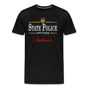 Authentic State Police Officer - Men's Premium T-Shirt