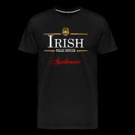 T-Shirts ~ Men's Premium T-Shirt ~ Authentic Irish Police Officer