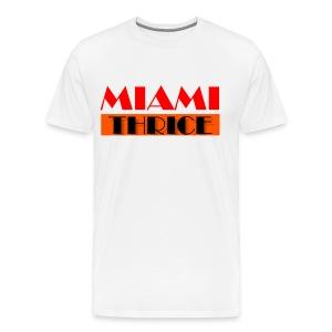Miami Thrice - White - Men's Premium T-Shirt
