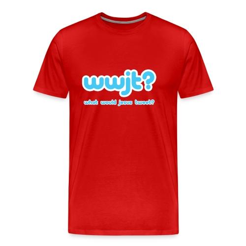 What Would Jesus Tweet? (Men) - Men's Premium T-Shirt