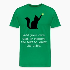 Cat and 4 Leaf Clover T-Shirts