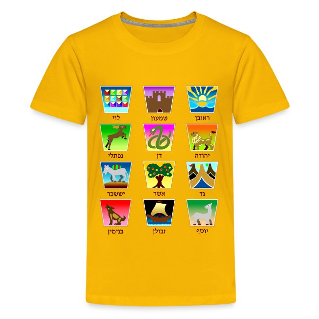 Bblest The Twelve Tribes Of Israel Kids Premium T Shirt