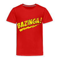 Baby & Toddler Shirts ~ Toddler Premium T-Shirt ~ BAZINGA T-Shirt Sheldon Toddler T-Shirt