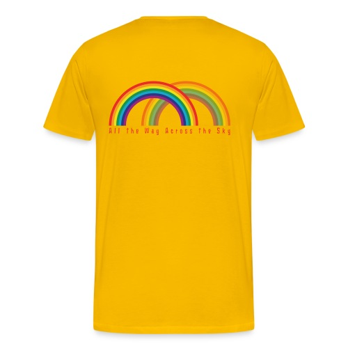 Double Rainbow : Men (Graphic on back) - Men's Premium T-Shirt