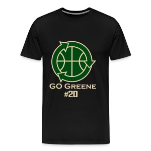 Donte Greene - Go Greene Tee (Tan text) - Men's Premium T-Shirt