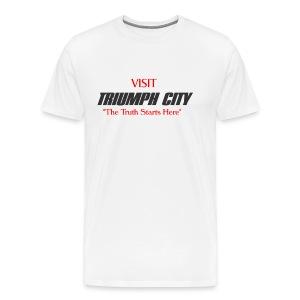 Triumph City Men's Heavyweight T red print - Men's Premium T-Shirt