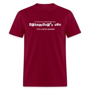 Trickster's Men's Heavyweight T white print - Men's T-Shirt