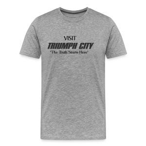 Triumph City Men's Heavyweight T black print - Men's Premium T-Shirt