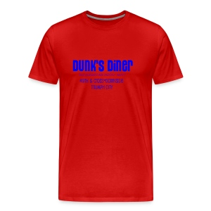 Dunk's Men's Heavyweight T blue print  - Men's Premium T-Shirt