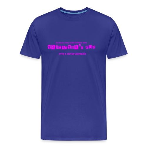 Trickster's Men's Heavyweight T pink print - Men's Premium T-Shirt