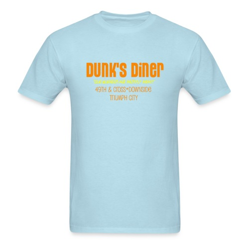 Dunk's Men's Heavyweight T orange print  - Men's T-Shirt