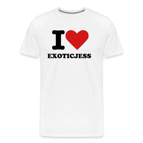 I Love ExoticJess T-Shirt (Black Text) - Men's Premium T-Shirt