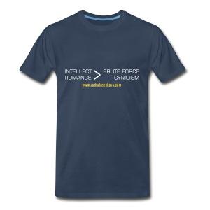 Intellect & Romance (3XL Shirt) - Men's Premium T-Shirt