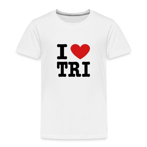 I Heart Tri Toddler T-Shirt - Toddler Premium T-Shirt