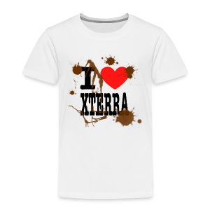 I Heart Xterra Muddy Design Toddler T-Shirt - Toddler Premium T-Shirt