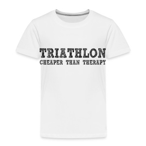 Triathlon - Cheaper Than Therapy Toddler T-Shirt - Toddler Premium T-Shirt