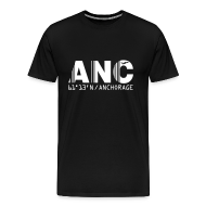 T-Shirts ~ Men's Premium T-Shirt ~ Anchorage airport code United States  ANC  black t-shirt