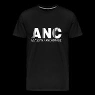 T-Shirts ~ Men's Premium T-Shirt ~ Anchorage airport code United States  ANC  black t-shirt