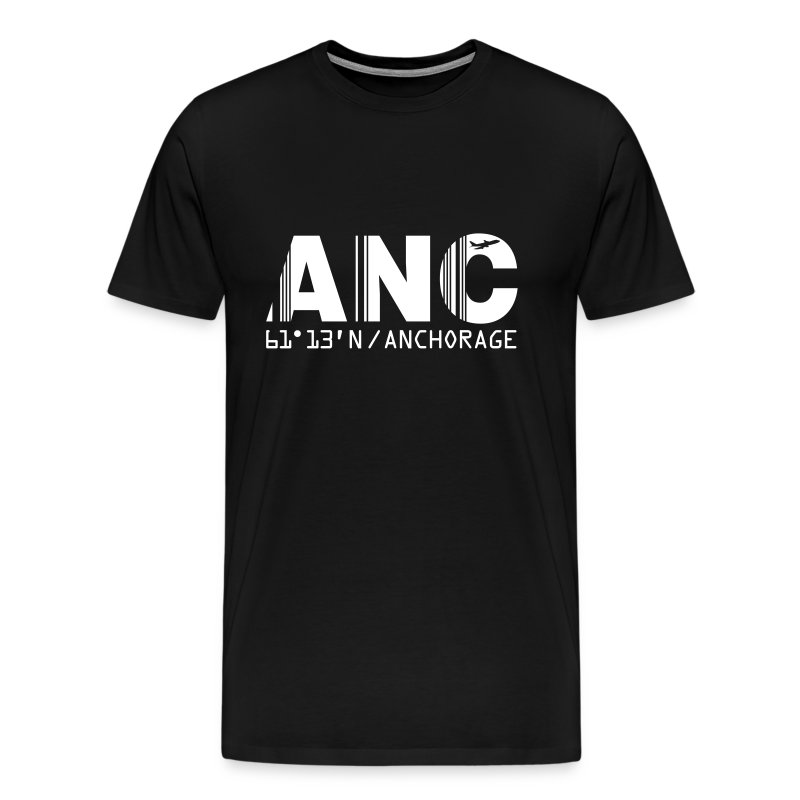 Anchorage airport code United States  ANC  black t-shirt  - Men's Premium T-Shirt