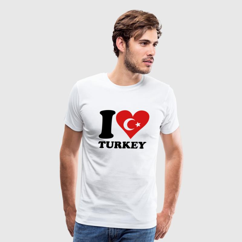 I love turkey T-Shirts - Men's Premium T-Shirt