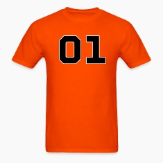 Orange Dukes of Hazzard - General Lee Number T-Shirts