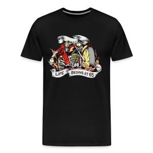 Life begins at 65, The Grim Reaper - Men's Premium T-Shirt