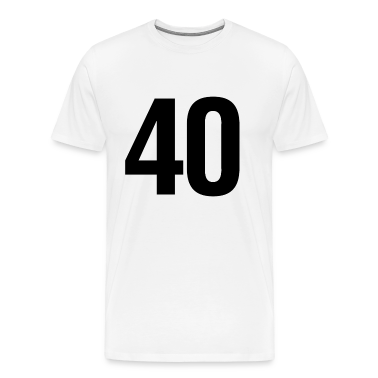 helvetica number 40 T-Shirts