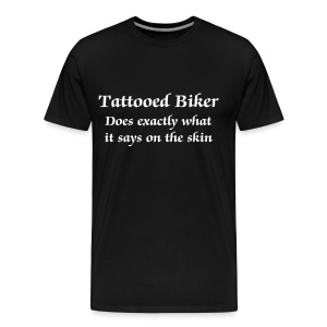Tattooed Biker - Men's Premium T-Shirt