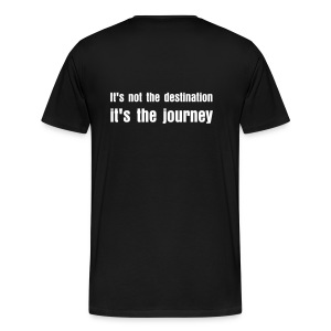 It's not the desination - Men's Premium T-Shirt