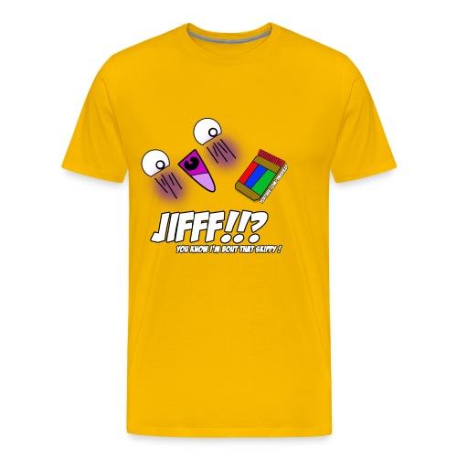 JIFFF!!? T-Shirt (Choose any color!) - Men's Premium T-Shirt