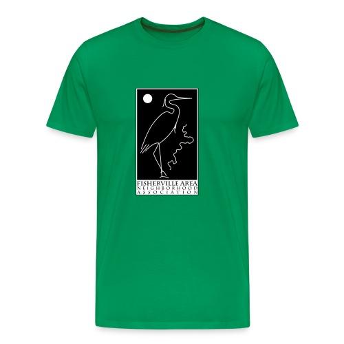 Men's Blue Heron, Dark Skies Design - Men's Premium T-Shirt
