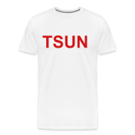 T-Shirts ~ Men's Premium T-Shirt ~ White TSUN w/ Red