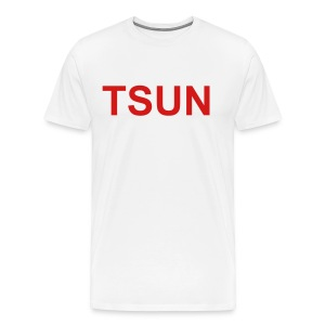 White TSUN w/ Red - Men's Premium T-Shirt