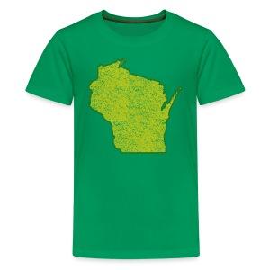 Wisconsin Distressed - Kids' Premium T-Shirt