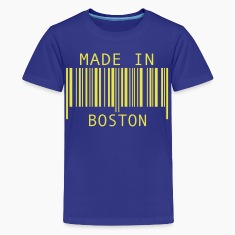 Turquoise Made in Boston Kids' Shirts
