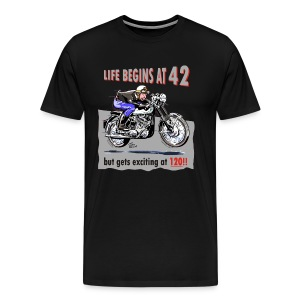 Life begins at 42, Classic BSA - Men's Premium T-Shirt