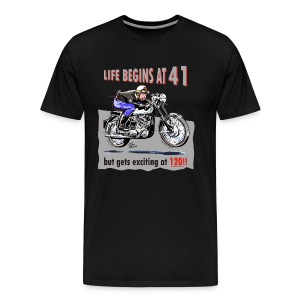 Life begins at 41, Classic BSA - Men's Premium T-Shirt