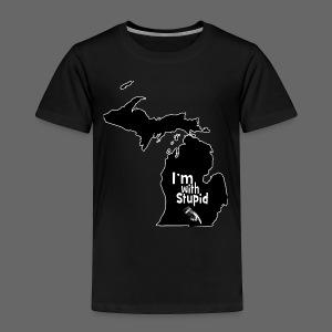 I'm with Stupid Ohio Toddler T-Shirt - Toddler Premium T-Shirt