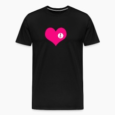 you are here - love and valentine's day gift T-shirts (manches courtes)
