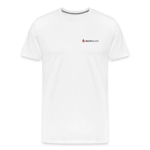 Logo with Big Mutli-Flame - Men's Premium T-Shirt