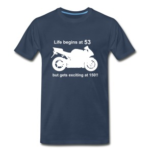 Life begins at 53 Superbike - Men's Premium T-Shirt