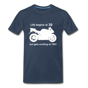 Life begins at 39 Superbike - Men's Premium T-Shirt