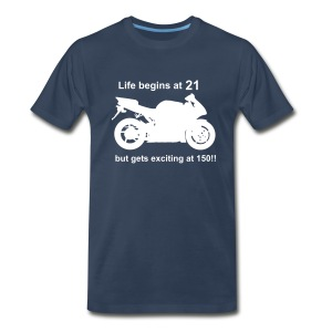 Life begins at 21 Superbike - Men's Premium T-Shirt