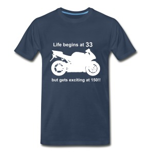 Life begins at 33 Superbike - Men's Premium T-Shirt