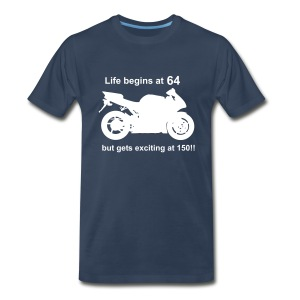 Life begins at 64 Superbike - Men's Premium T-Shirt