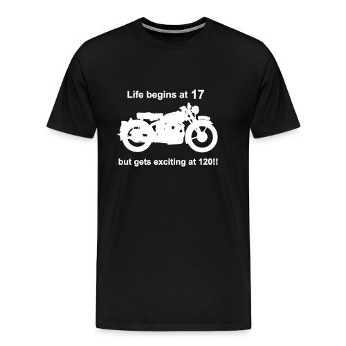 Life begins at 17, Classic Bike - Men's Premium T-Shirt