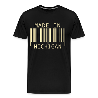 Black Made in Michigan T-Shirts