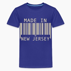 Turquoise Made in New Jersey Kids' Shirts