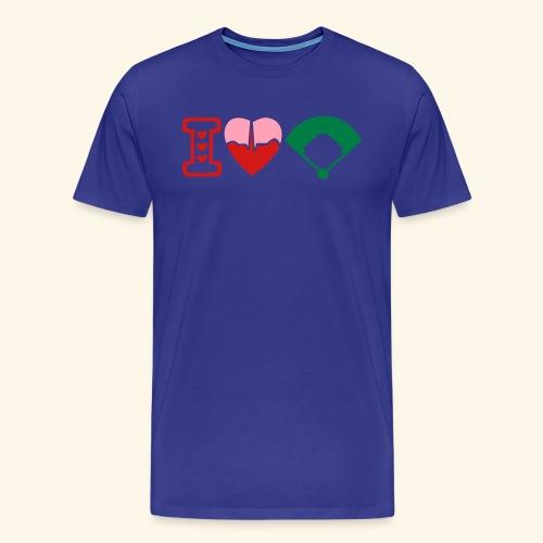 I love baseball teeshirt - Men's Premium T-Shirt