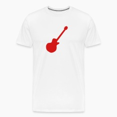 White Les Paul Electric Guitar T-Shirts